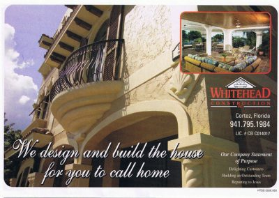 Whitehead Construction Inc. Ad